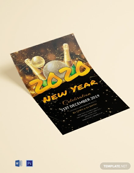 Free New Year DJ Flyer