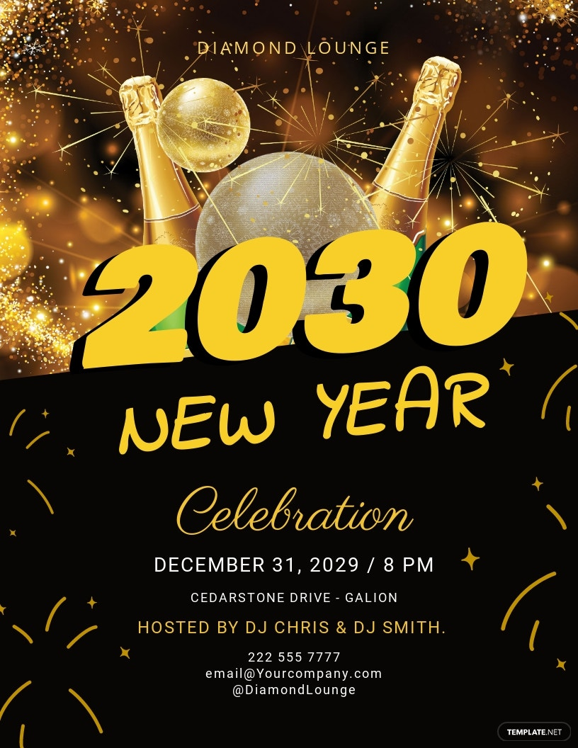 FREE New Year DJ Flyer Template