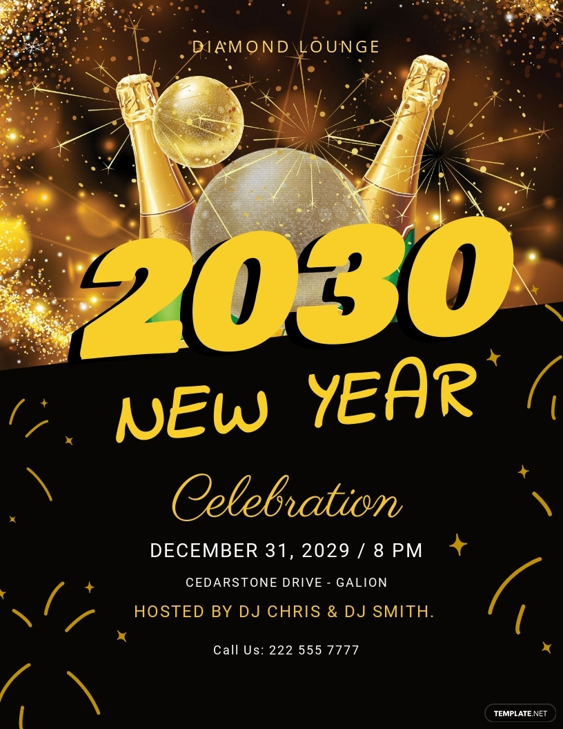 New Year DJ Flyer Template