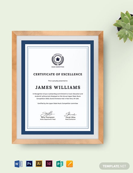 Music Certificate Template