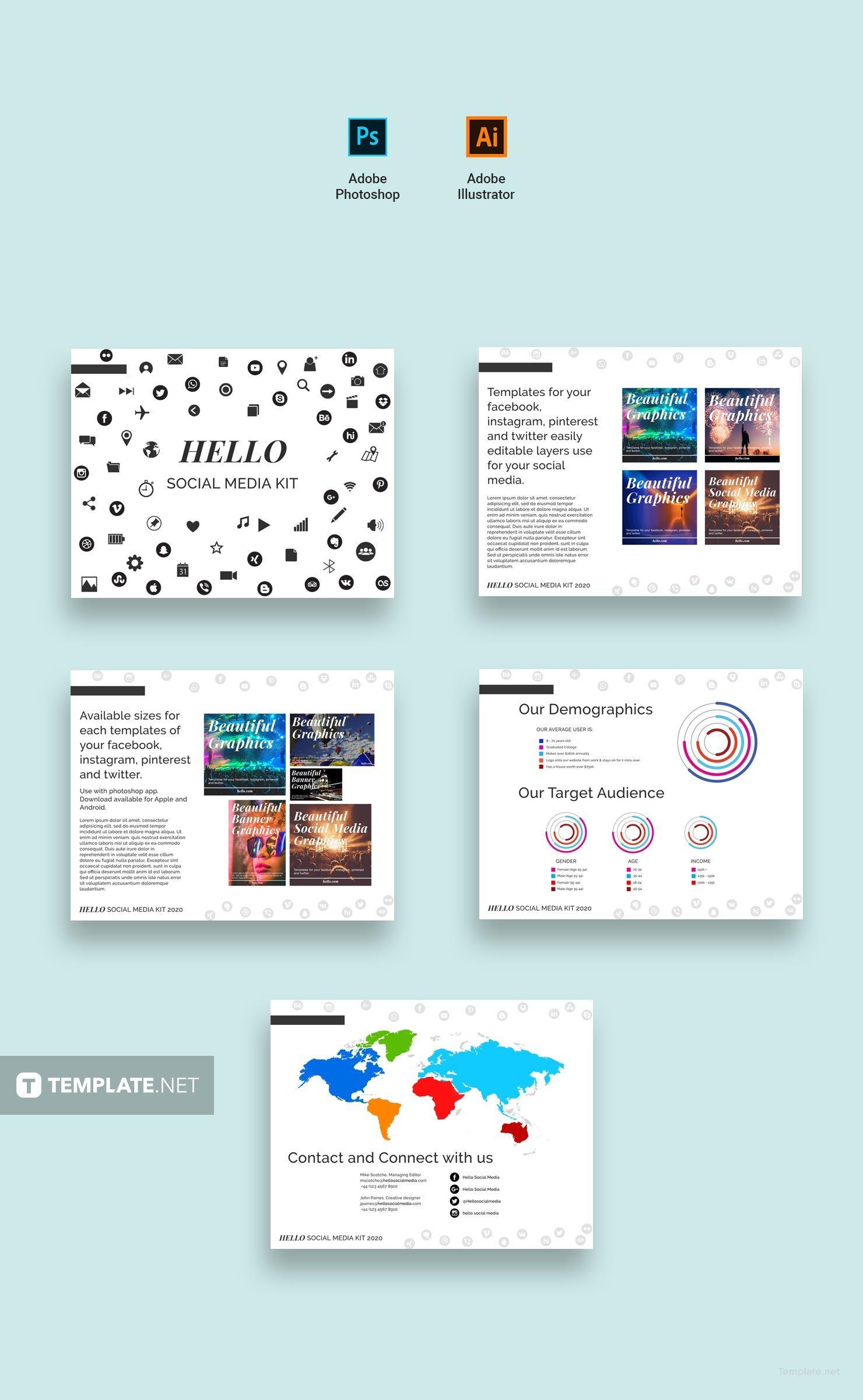 online media kit template - free social media kit template in adobe photoshop adobe