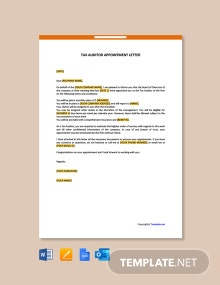 Free Tax Auditor Appointment Letter