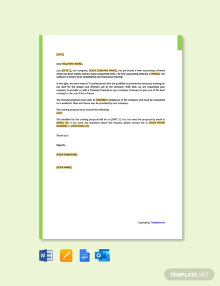 Request For Training Proposal Letter Template