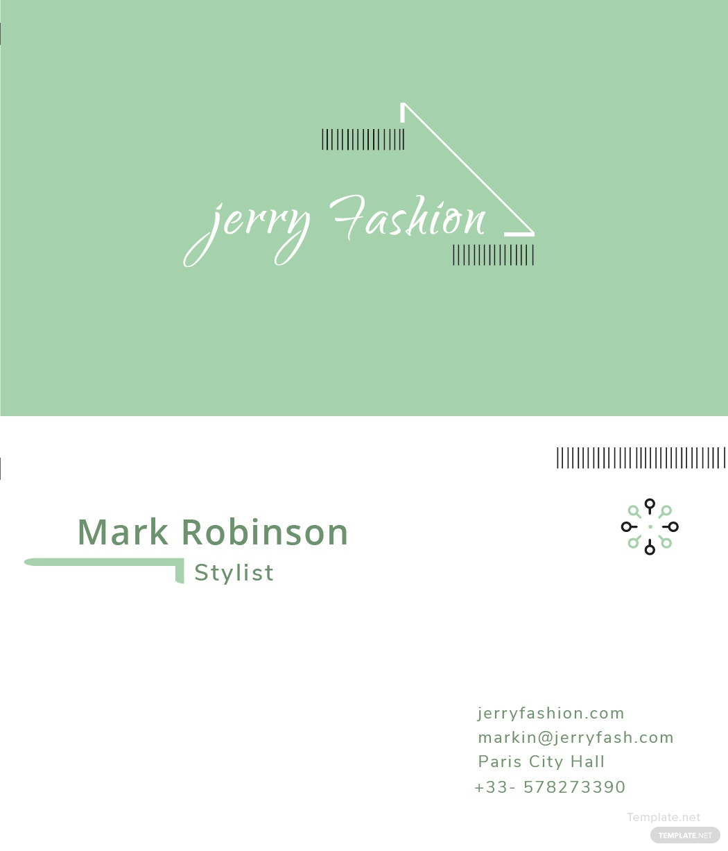 Free fashion store business card template in adobe illustrator printable fashion store business card free download reheart Gallery