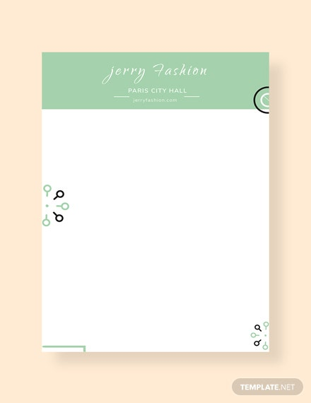 Free Fashion Store Letterhead Template