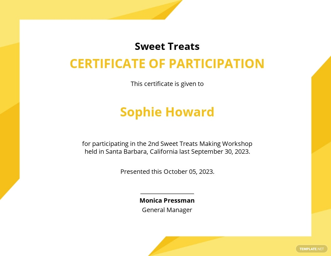 Workshop Certificate Template