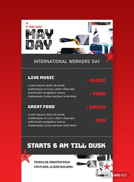 Free May Day Email Newsletter Template