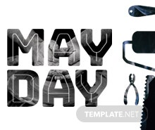 Free May Day Facebook Cover Template