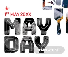 Free May Day Facebook Event Cover Template