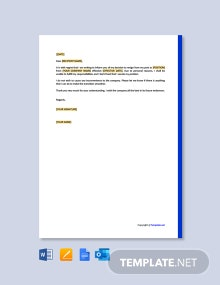 Free Short Resignation Letter for Personal Reason