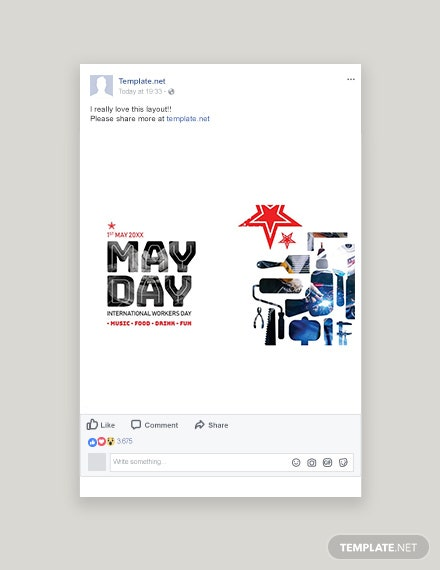 Free May Day Facebook Post Template
