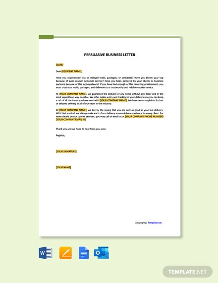 Free Persuasive Business Letter