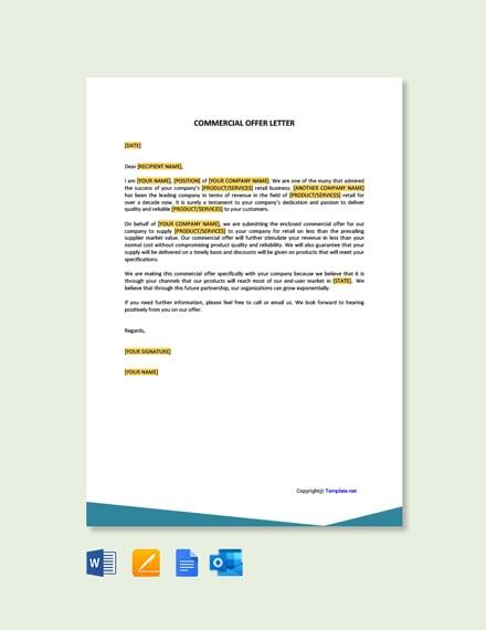 Free Commercial Offer Letter