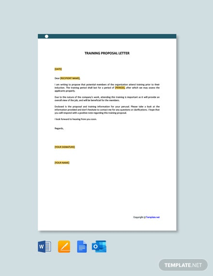 Training Proposal Letter Template