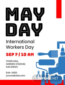 Free May Day Flyer Template