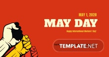 Free May Day LinkedIn Post Template
