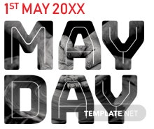 Free May Day Pinterest Pin Template