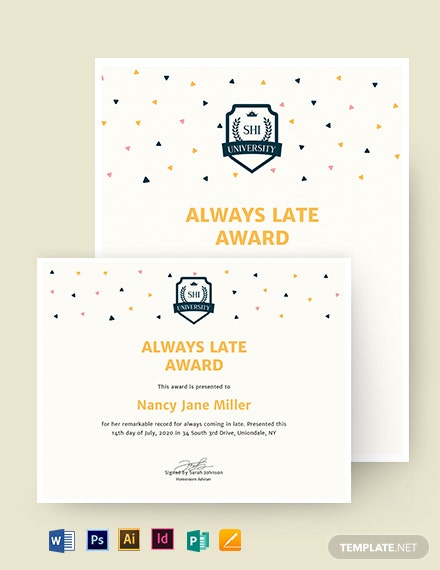 Funny Certificate Template