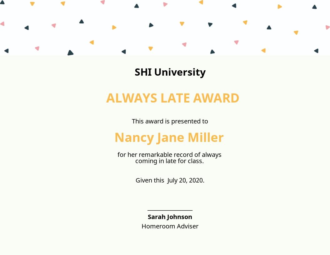 Funny Certificate Template