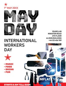 Free May Day Poster Template