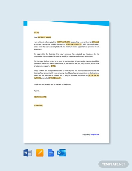 Free Ending A Business Relationship Letter