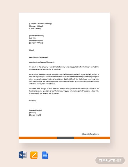 Free Greeting Letter