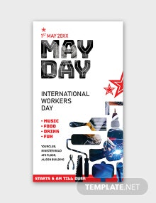 Free May Day Snapchat Geofilter Template