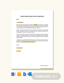 Free Salary Negotiation Letter To Employer