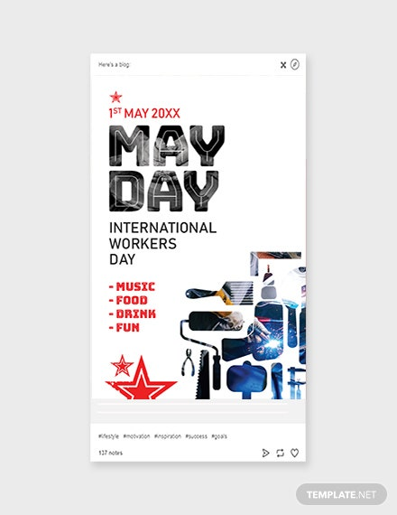 Free May Day Tumblr Post Template