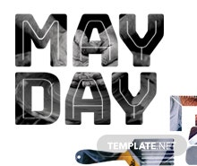 Free May Day Twitter Header Cover Template
