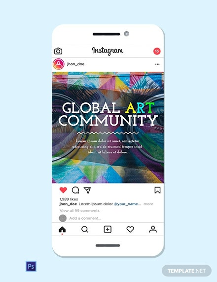 Art Culture Instagram Ad Template