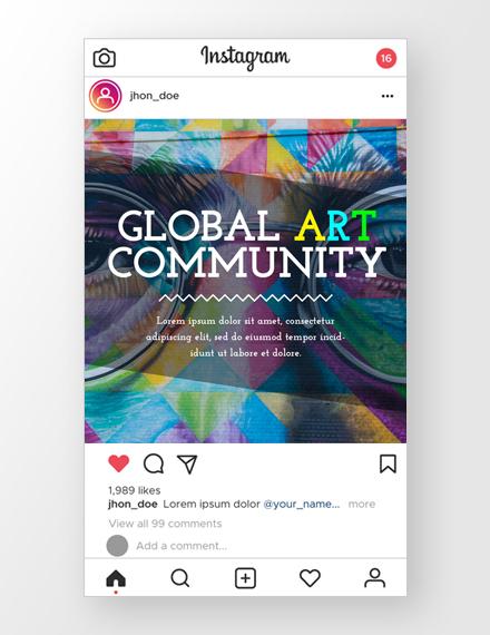 Art Culture Instagram Ad Template
