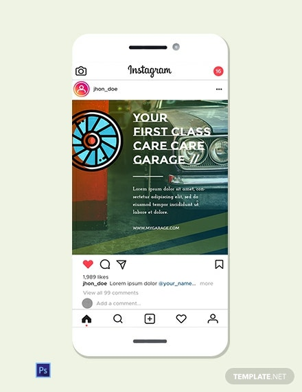 Automobile Instagram Ad Template