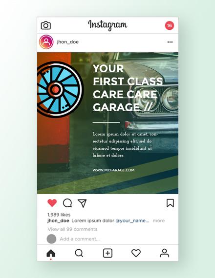 Automobile Instagram Ad Template