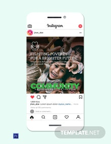 Charity Instagram Ad Template