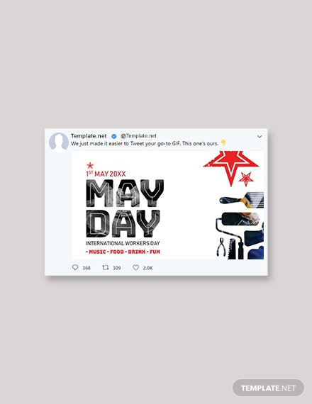 Free May Day Twitter Post Template