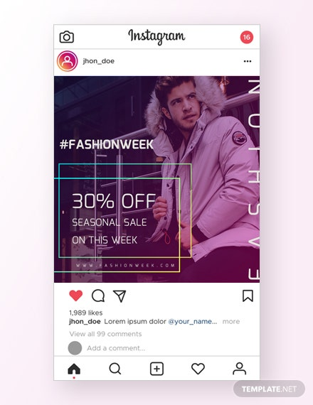 Fashion Instagram Ad Template