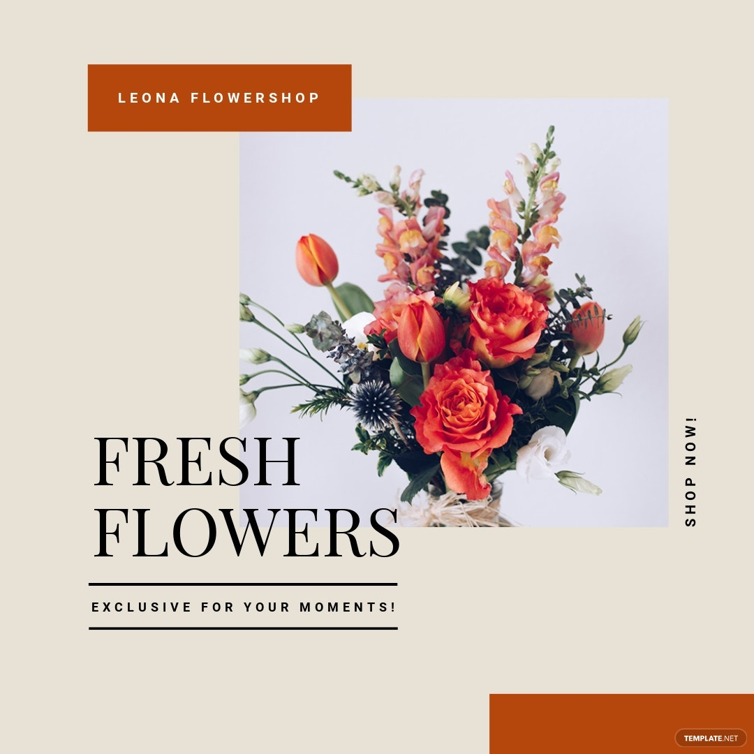 Flower Shop Instagram Ad Template