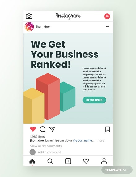 SEO Company Instagram Ad Template