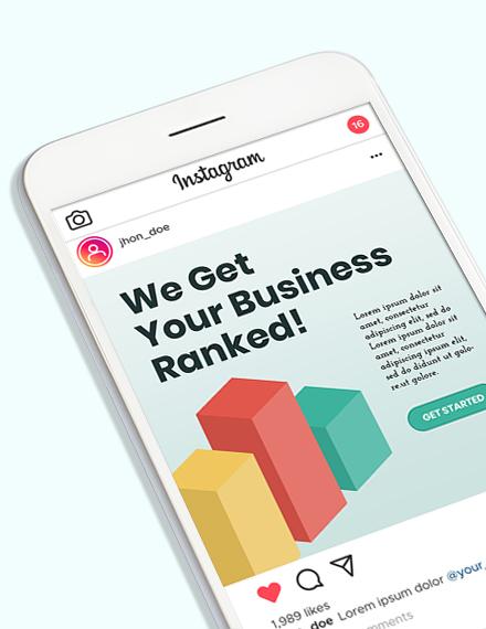 Sample SEO Company Instagram Ad