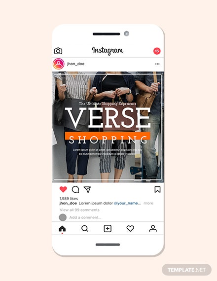Home Shopping Instagram Ad Template