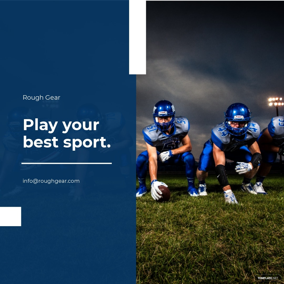Sports Instagram Ad Post Template