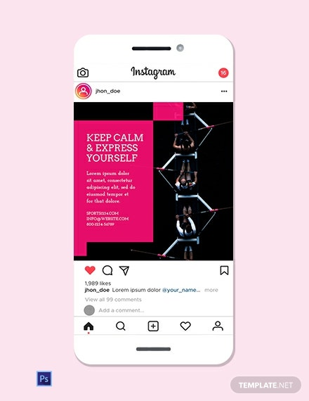 Sports Instagram Ad Template