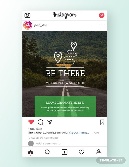 Travel Instagram Ad Template
