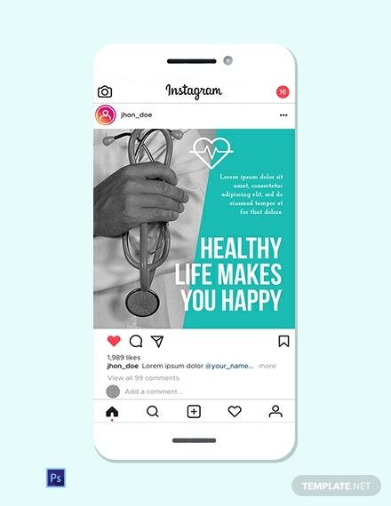 Medical Instagram Ad Template