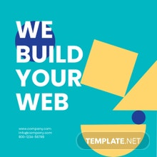 Web Design Instagram Ad Template