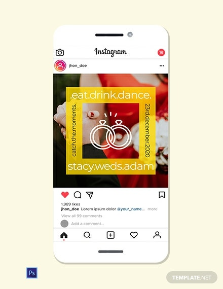 Wedding Instagram Ad Template