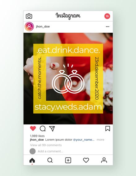 Wedding Instagram Ad Template