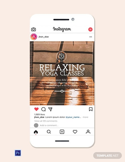Yoga Instagram Ad Template