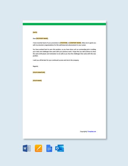 Free Congratulation Letter